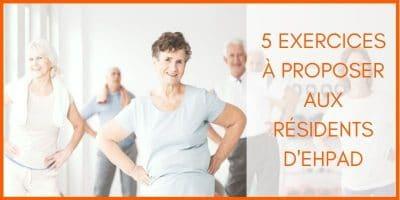 groupe de seniors qui pratiquent une activité physique adaptée en ehpad