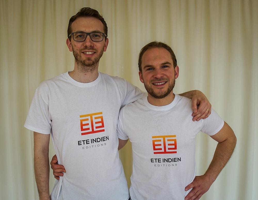 Benjamin Braquet et Julien Odienne, cofondateurs de Eté Indien
