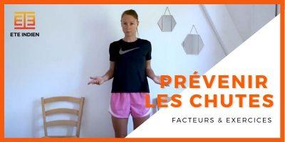 exercice vidéo pour prévenir le risque de chute chez la personne agée et renforcer l'équilibre