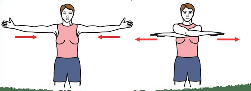 Exercice de renforcement musculaire : battre de l'aile