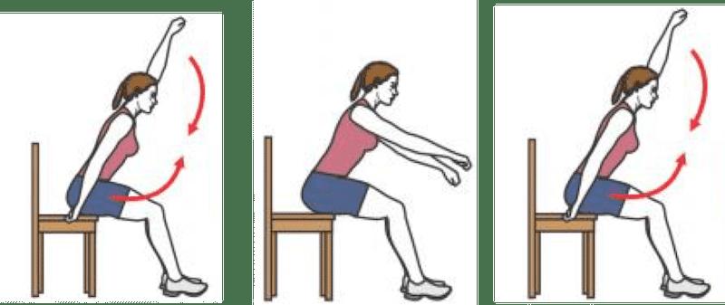 Exercice de renforcement musculaire : élévation des bras