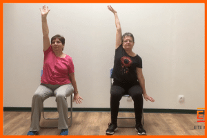 exercices de gym sur chaise en video