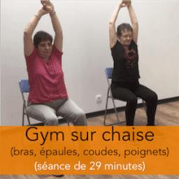 séance de gym sur chaise en vidéo pour les seniors