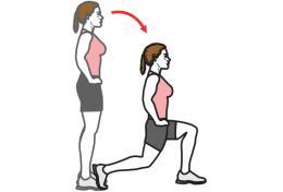 exercice de fente avant pour muscler ses fessiers quand on est senior