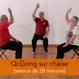 séance de qi gong sur chaise en vidéo HD