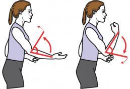 exercice de rotation des bras pour s'échauffer