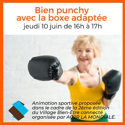 séance de boxe adaptée pour les seniors de 60 ans et plus