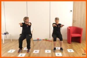 séance de coordination en vidéo