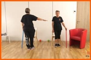séance de prévention des chutes et d'équilibre en vidéo