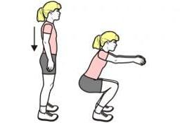 exercice de squat pour muscler ses fessiers quand on est senior