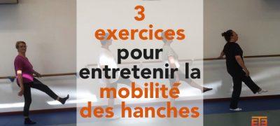 3 exercices pour mobiliser l'articulation des hanches